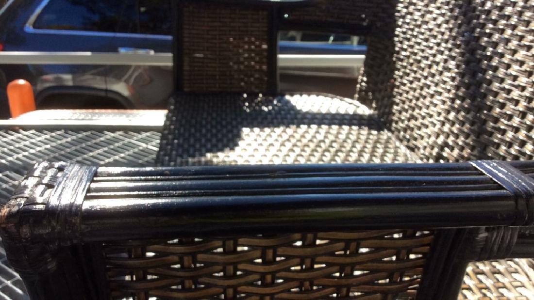 Indoor/Outdoor Woven Loveseat Bench W Cushion - 10