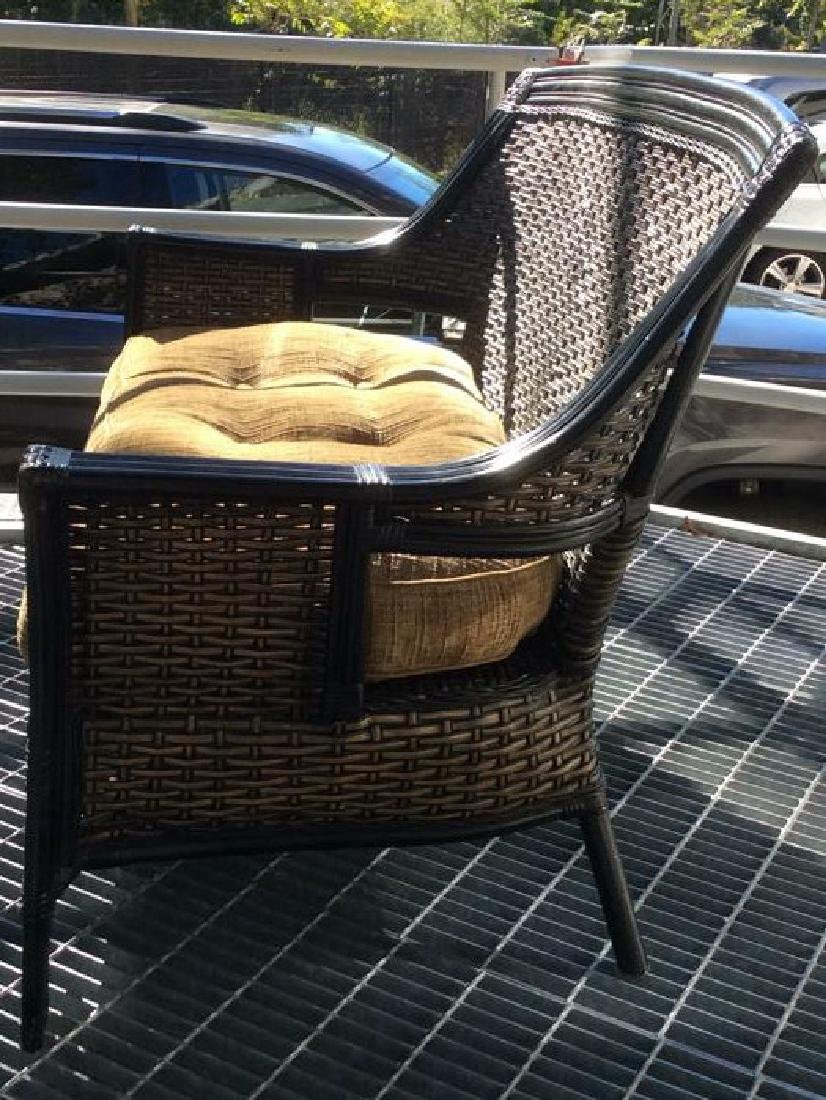 Indoor/Outdoor Woven Loveseat Bench W Cushion - 3