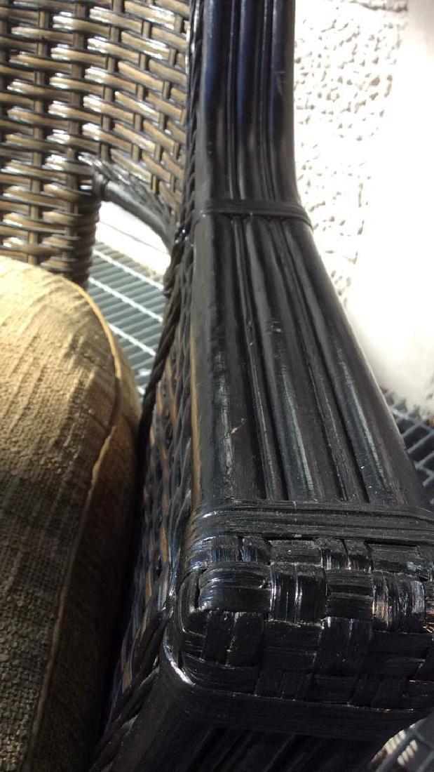 Indoor/Outdoor Woven Loveseat Bench W Cushion - 6