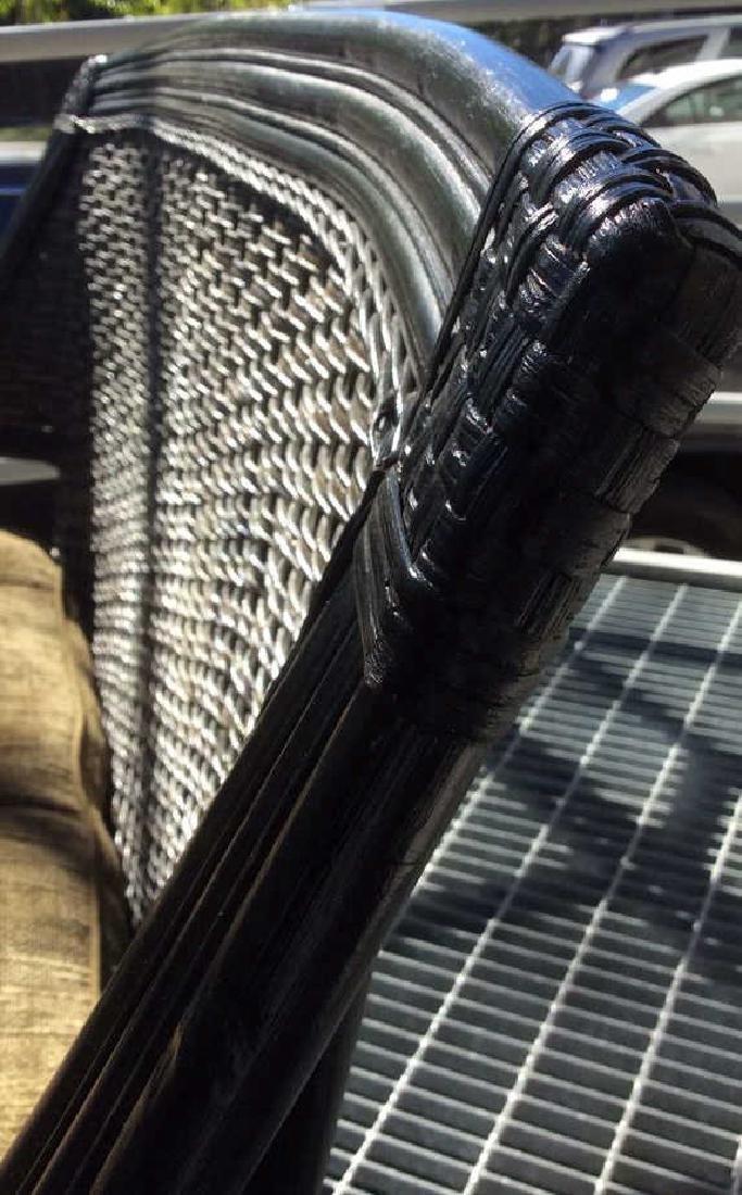 Indoor/Outdoor Woven Loveseat Bench W Cushion - 7