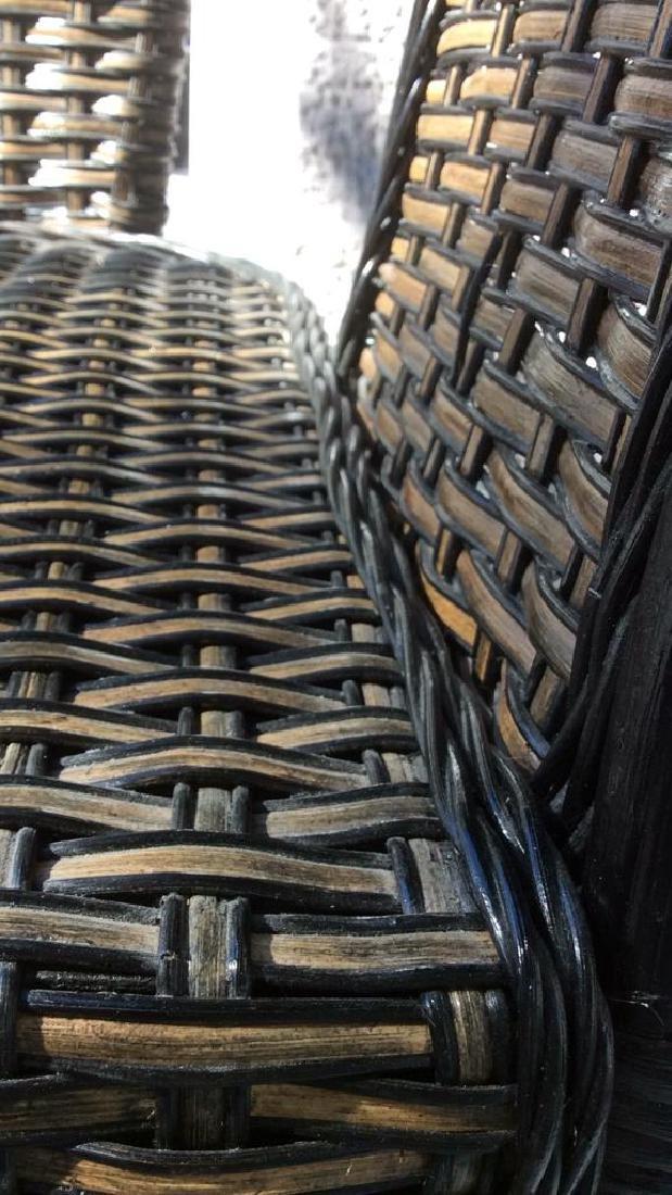 Indoor/Outdoor Woven Loveseat Bench W Cushion - 9