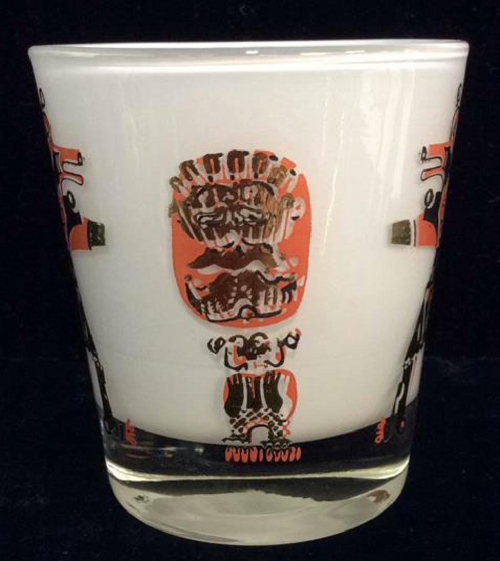 Lot 3 Vintage Painted Drinking Glasses - 4