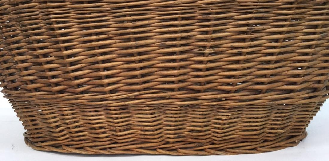 Large Wooden Wicker Basket From Lilian August - 2