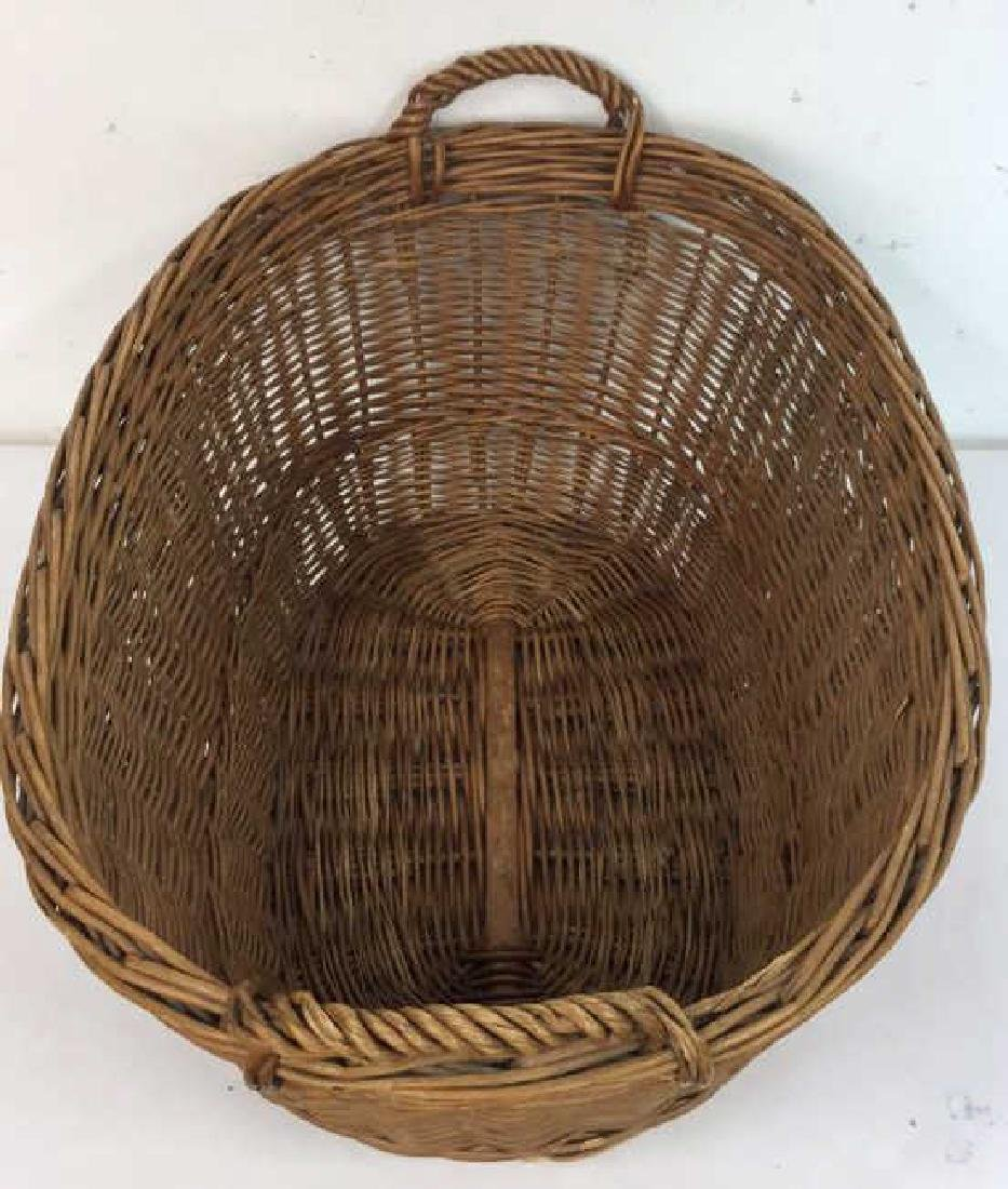 Large Wooden Wicker Basket From Lilian August - 5