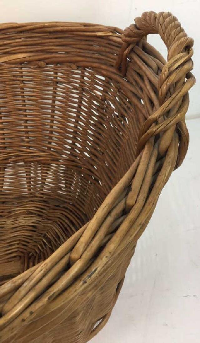 Large Wooden Wicker Basket From Lilian August - 8