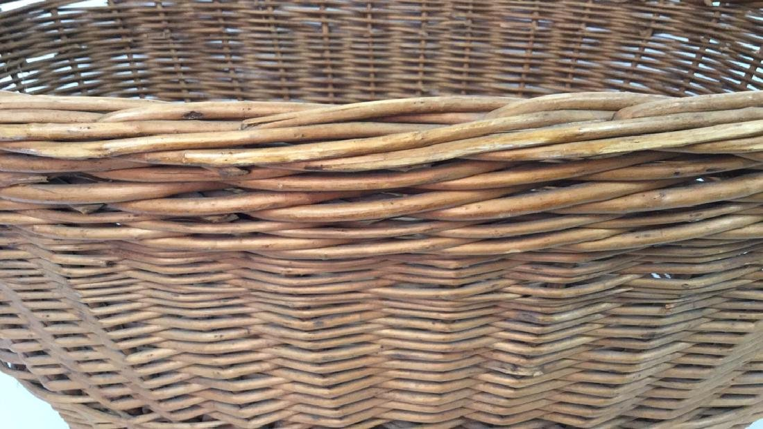Large Wooden Wicker Basket From Lilian August - 9