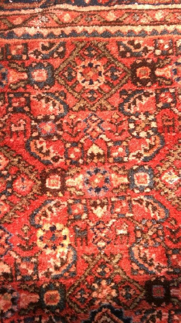 Oriental Wool Carpet Cranberry Toned Fringed Rug
