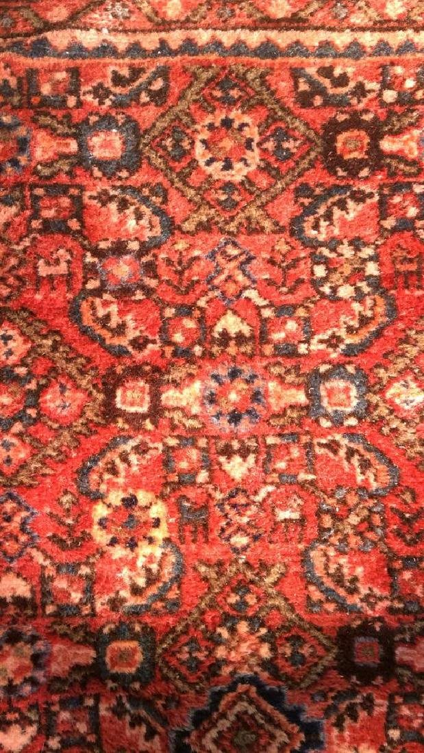 Oriental Wool Carpet Cranberry Toned Fringed Rug - 2