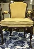 Vintage Wood Framed Armchair W Cushion