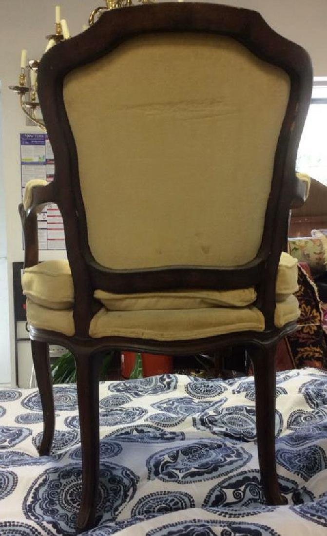 Vintage Wood Framed Armchair W Cushion - 5