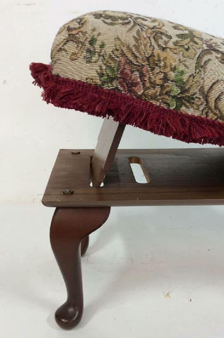 Embroidered Padded Leg Rest - 6