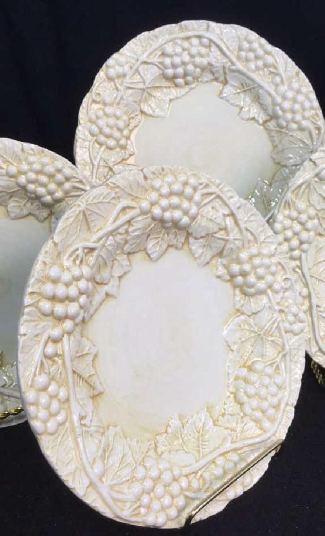 Set 6 Made Italian  Glazed Ceramic Plates Horchow - 10