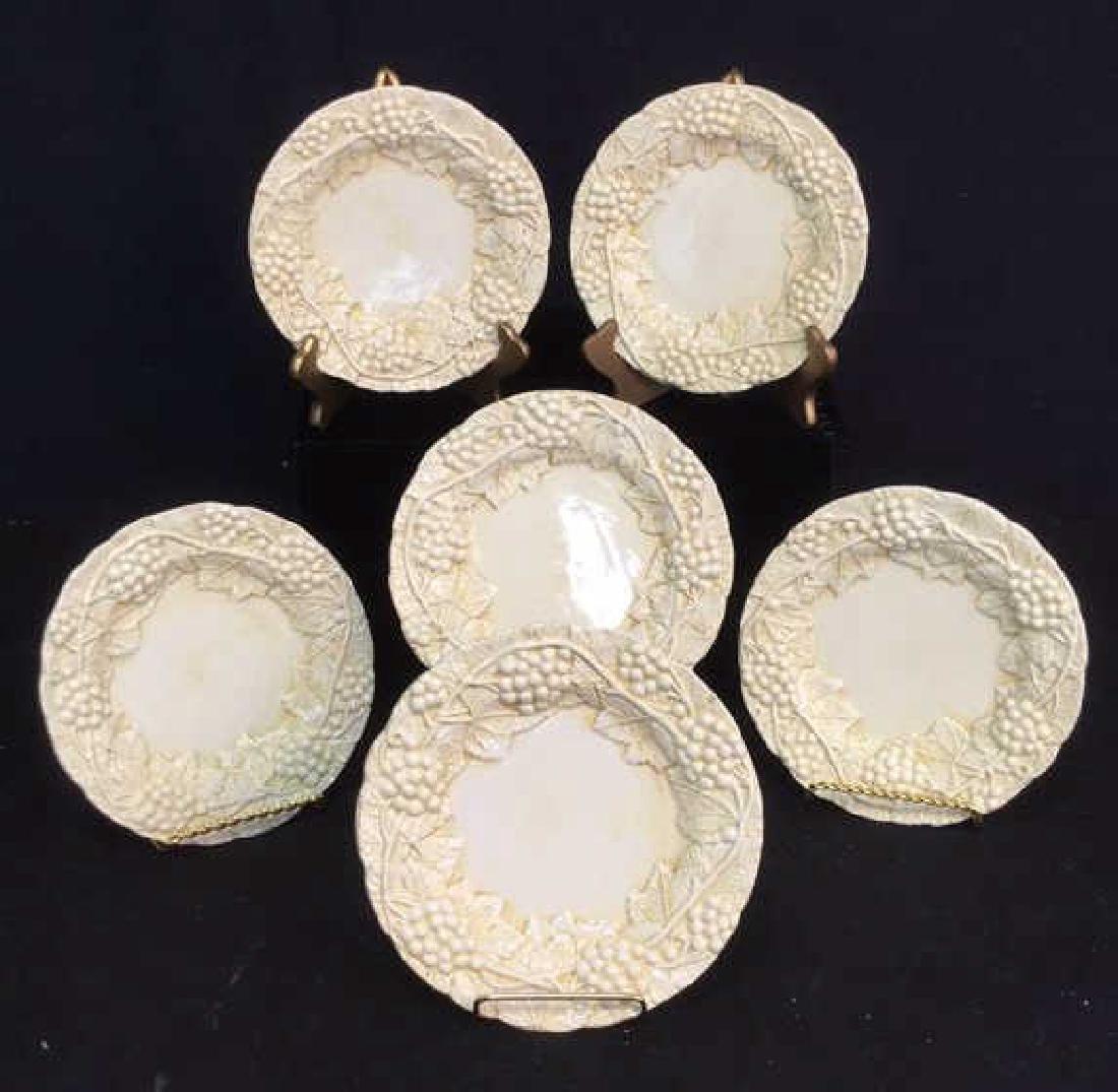 Set 6 Made Italian  Glazed Ceramic Plates Horchow