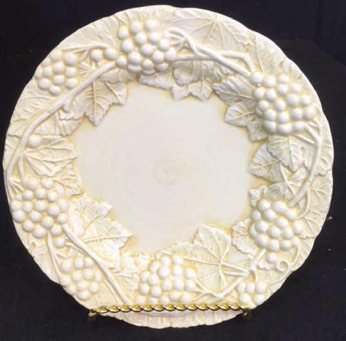 Set 6 Made Italian  Glazed Ceramic Plates Horchow - 3