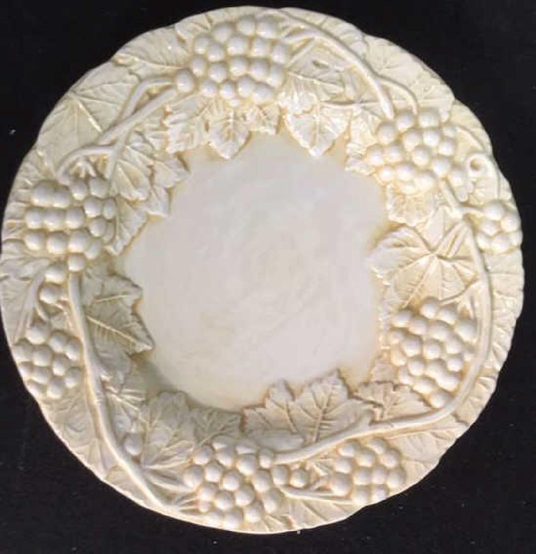 Set 6 Made Italian  Glazed Ceramic Plates Horchow - 4