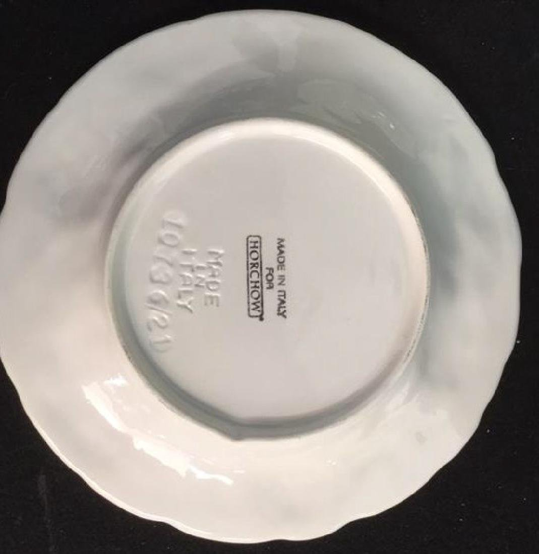 Set 6 Made Italian  Glazed Ceramic Plates Horchow - 5