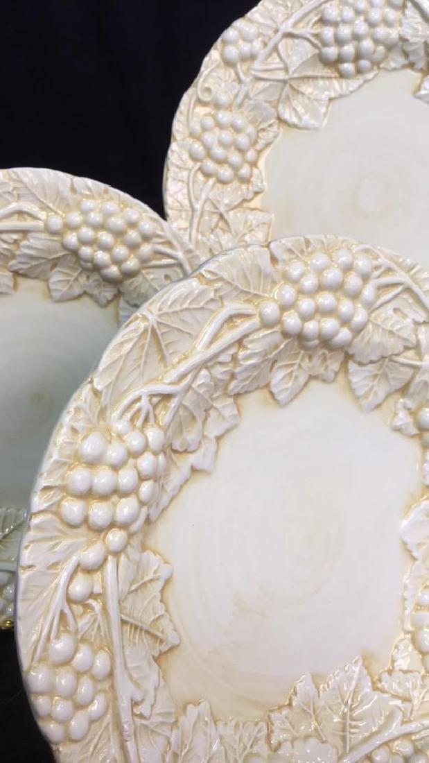Set 6 Made Italian  Glazed Ceramic Plates Horchow - 9