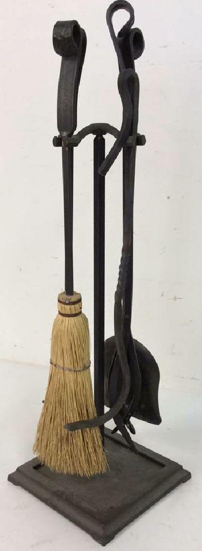 Lot 6 Wrought Iron Fireplace Tools Accessories