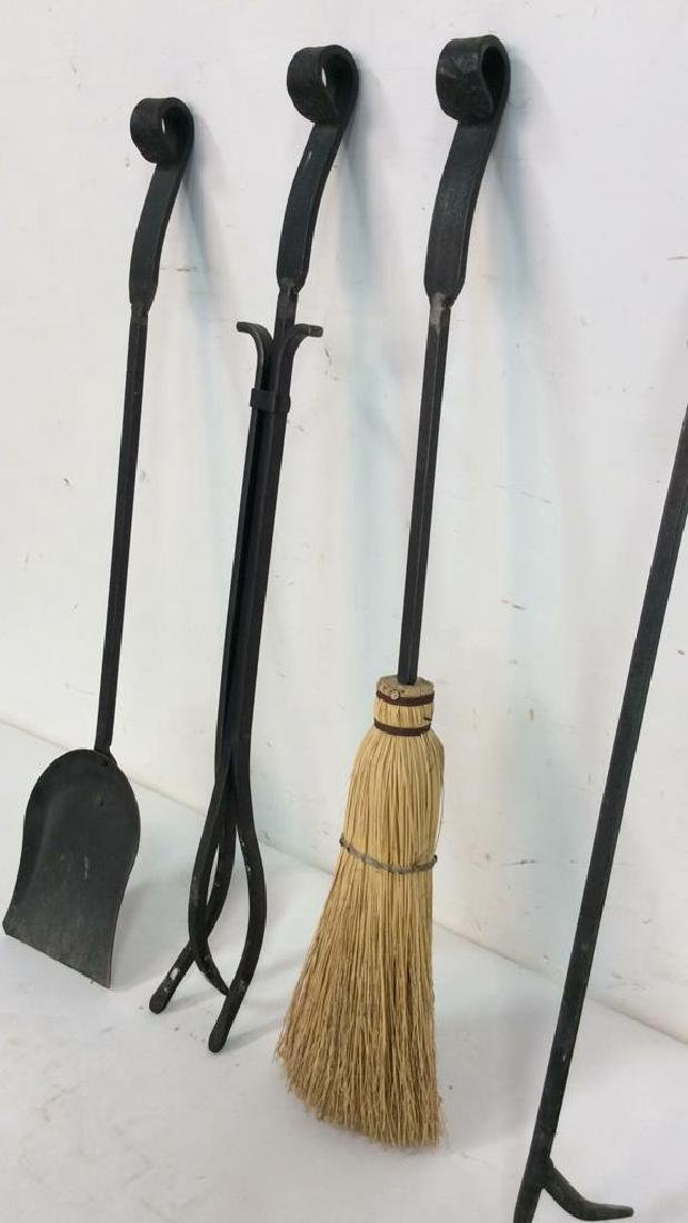 Lot 6 Wrought Iron Fireplace Tools Accessories - 4