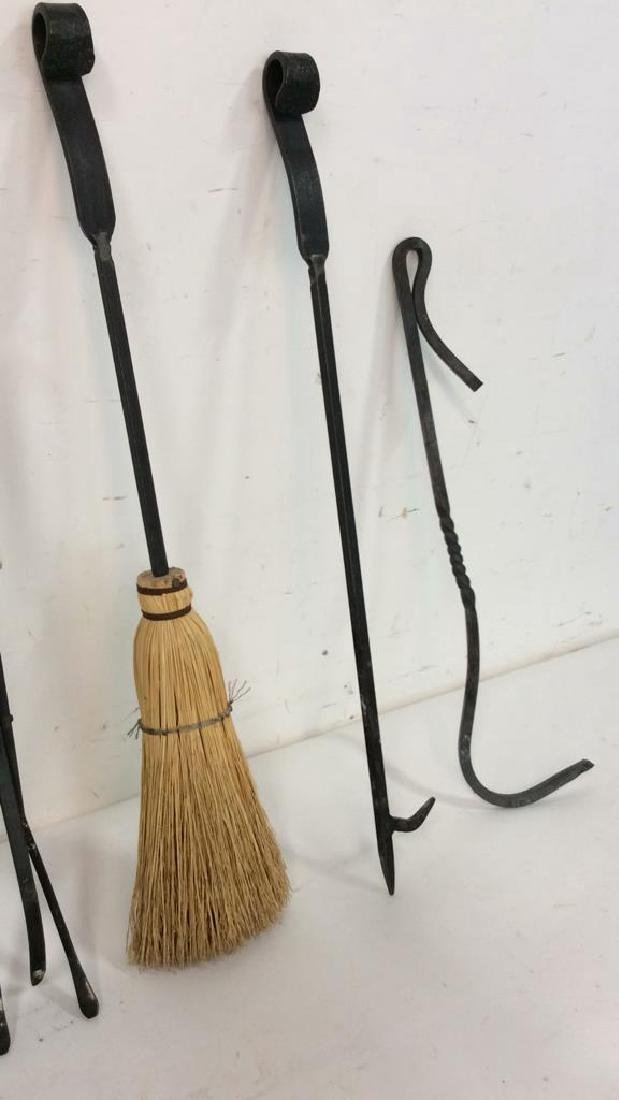 Lot 6 Wrought Iron Fireplace Tools Accessories - 5