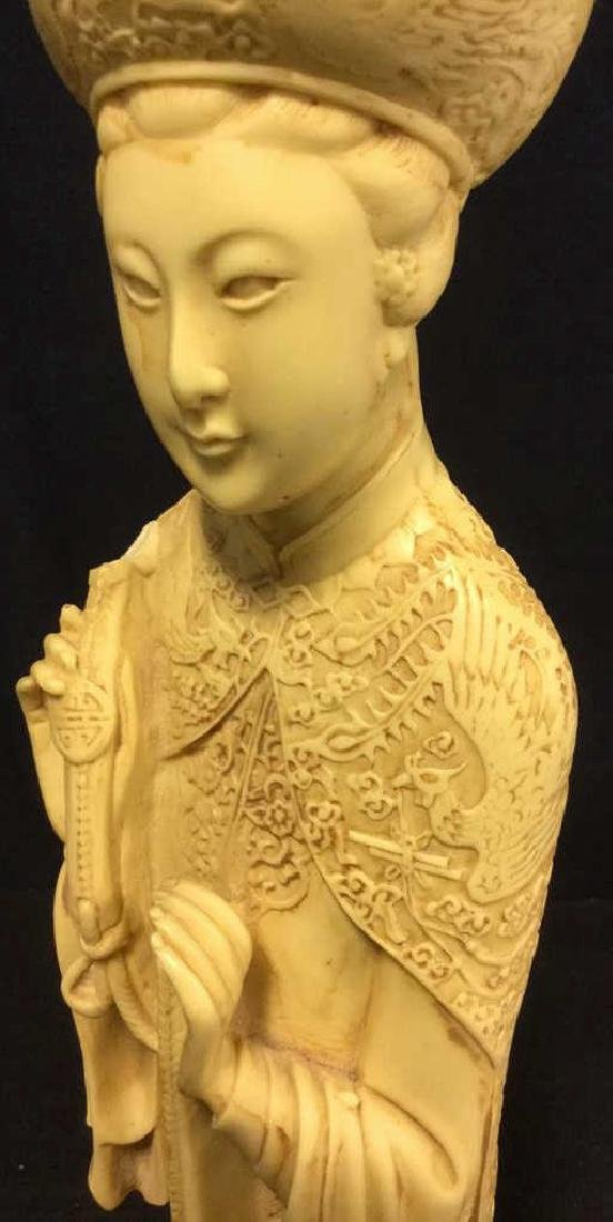 Vintage Sculpture Asian Man In Traditional Dress