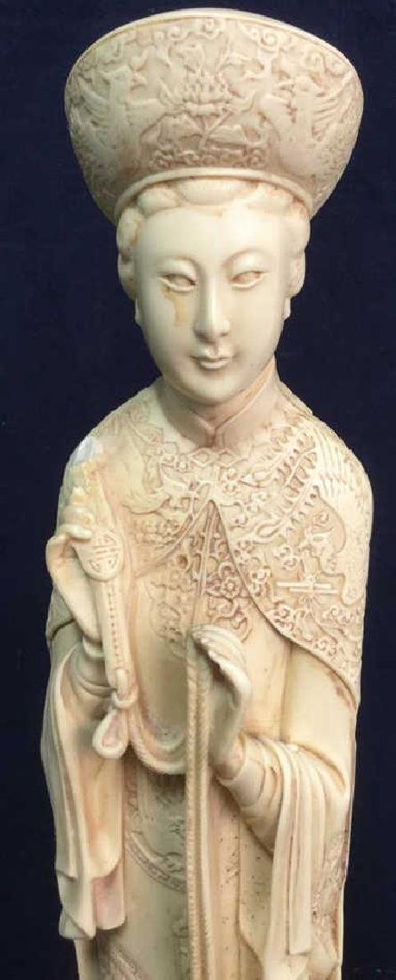 Vintage Sculpture Asian Man In Traditional Dress - 3