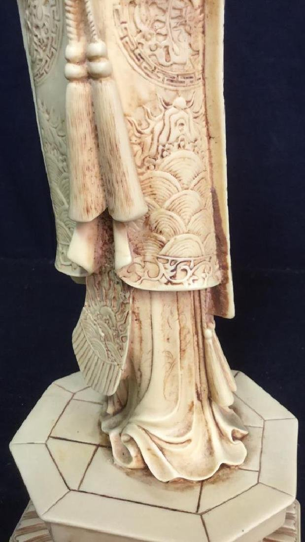 Vintage Sculpture Asian Man In Traditional Dress - 9