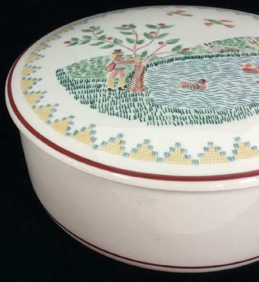 Porcelain Villeroy 7 Boch Dish W Lid - 3