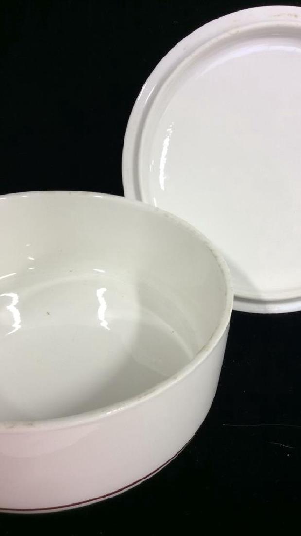 Porcelain Villeroy 7 Boch Dish W Lid - 6