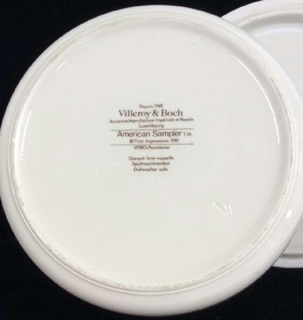 Porcelain Villeroy 7 Boch Dish W Lid - 7