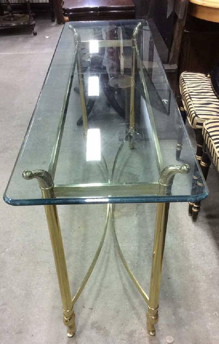 1980's style Brass Glass console table - 2