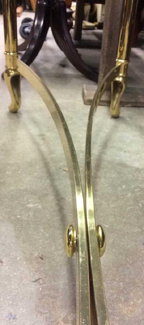 1980's style Brass Glass console table - 6