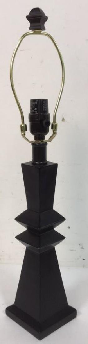 Geometric Shaped Ceramic Table Lamp and Shade - 10