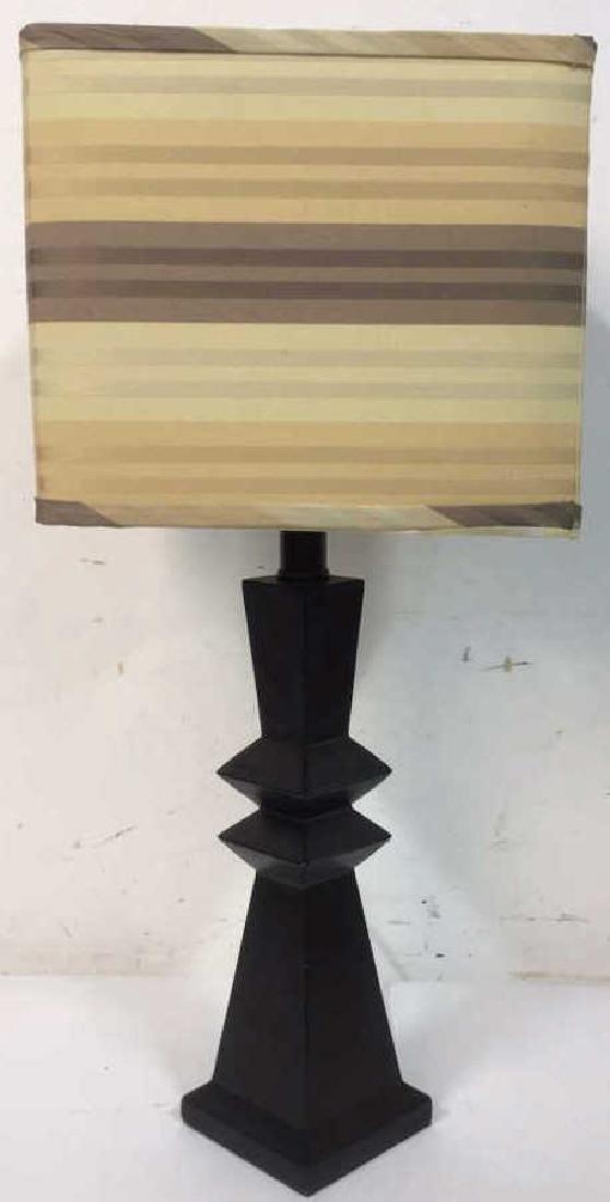 Geometric Shaped Ceramic Table Lamp and Shade