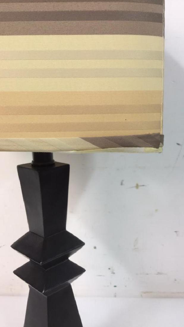 Geometric Shaped Ceramic Table Lamp and Shade - 2