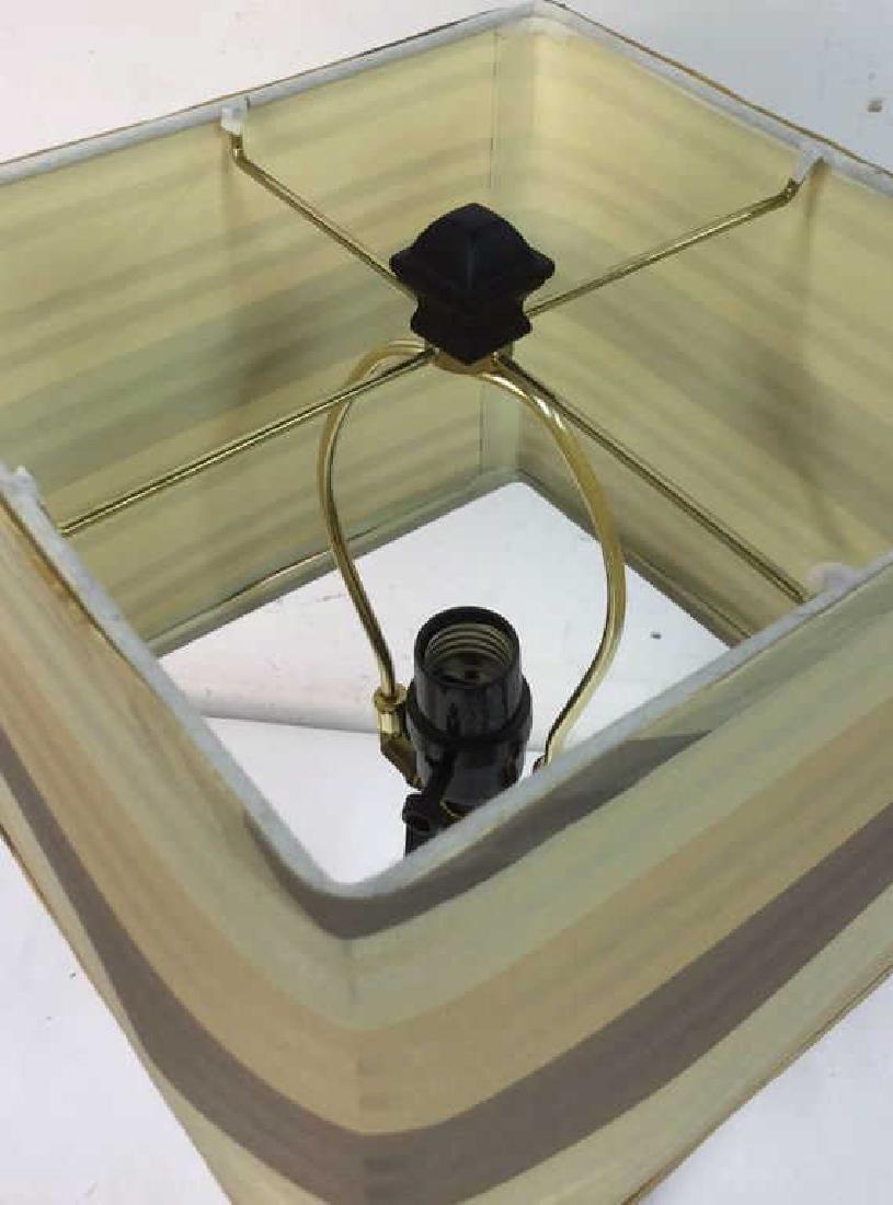 Geometric Shaped Ceramic Table Lamp and Shade - 5