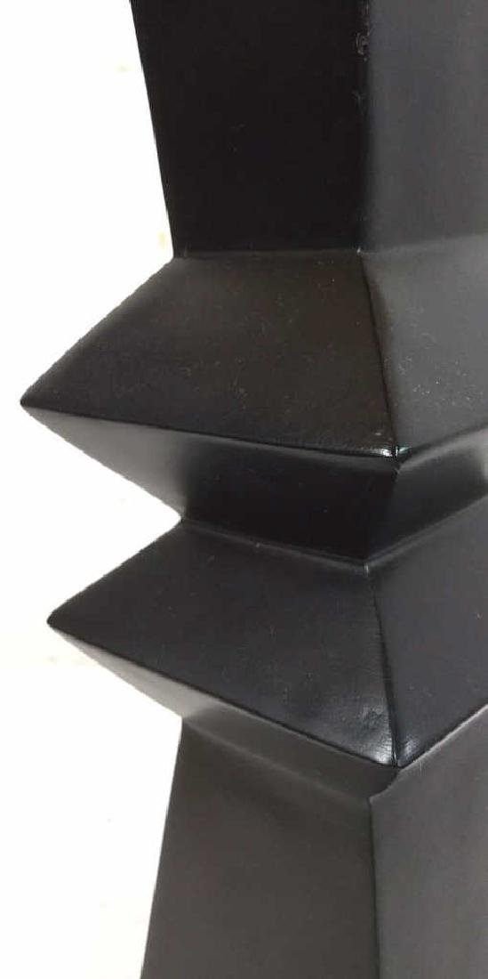 Geometric Shaped Ceramic Table Lamp and Shade - 7
