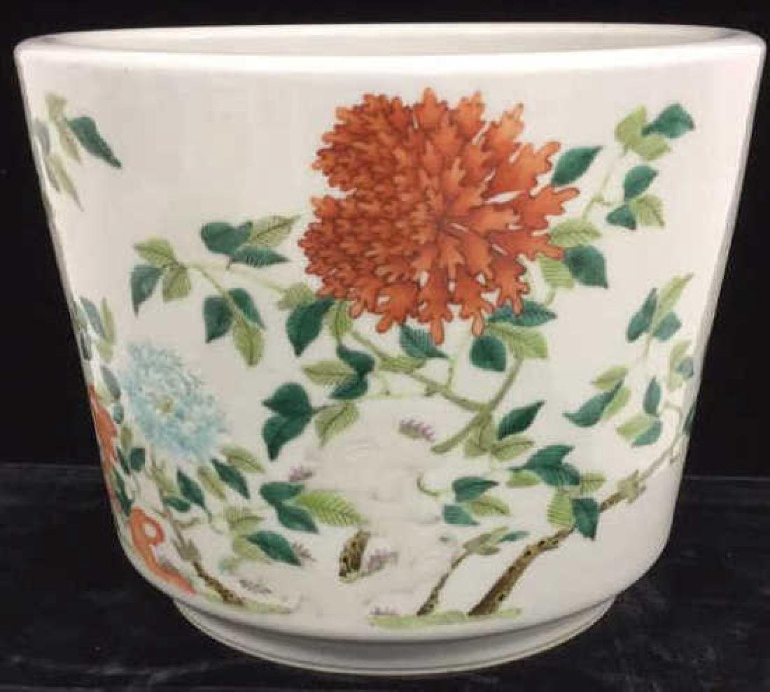Decorative Asian Inspired Ceramic Flower Pot - 10