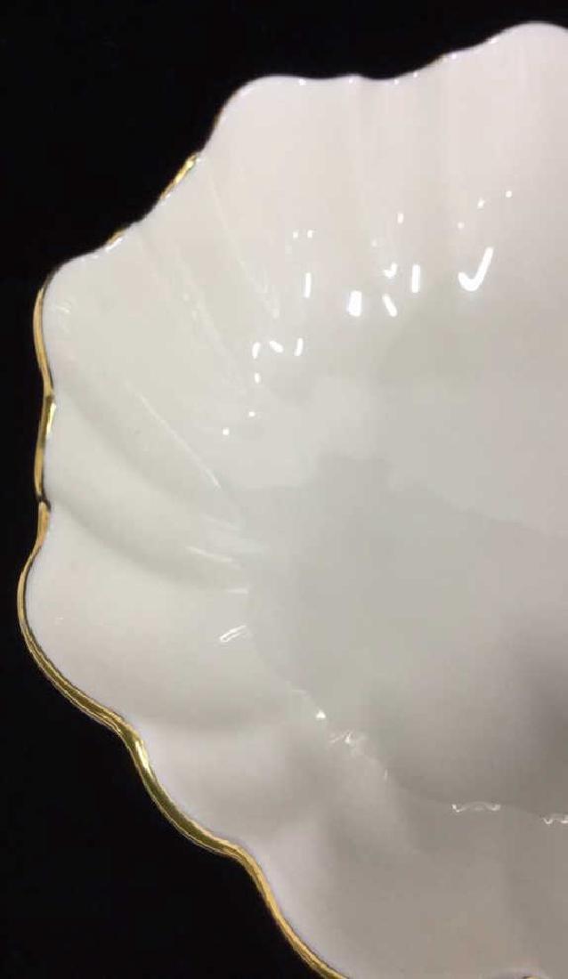 Ceramic/Porcelain Lenox Bowl With Scalloped Rim - 4