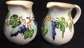 pair Italian Ceramic Pitchers