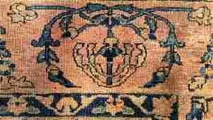Handmade SAROUK Circa 1920's Vintage Wool Carpet