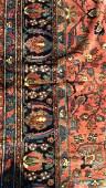 Handmade Vintage Persian HAMADAN Rug Carpet