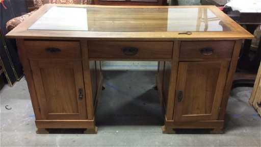 - Antique Pine And Wormwood Desk