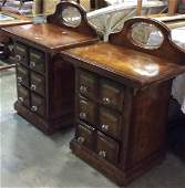Lot 2 Apothecary Inspired Wooden End Tables