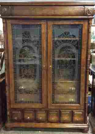 Apothecary Inspired Wooden Wardrobe Dresser
