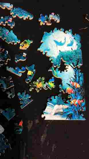 STAVE PUZZLES Jewels Of The Sea Handmade Puzzle