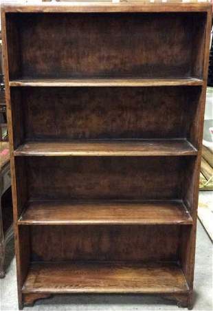 Vintage Wooden Bookshelf w Feet