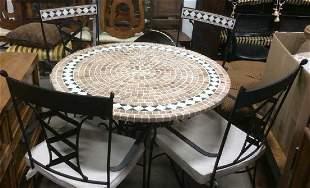 Lot 5 Iron & Stone Patio Furniture Set