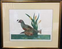 Limited Edition Quail Etching Color Print