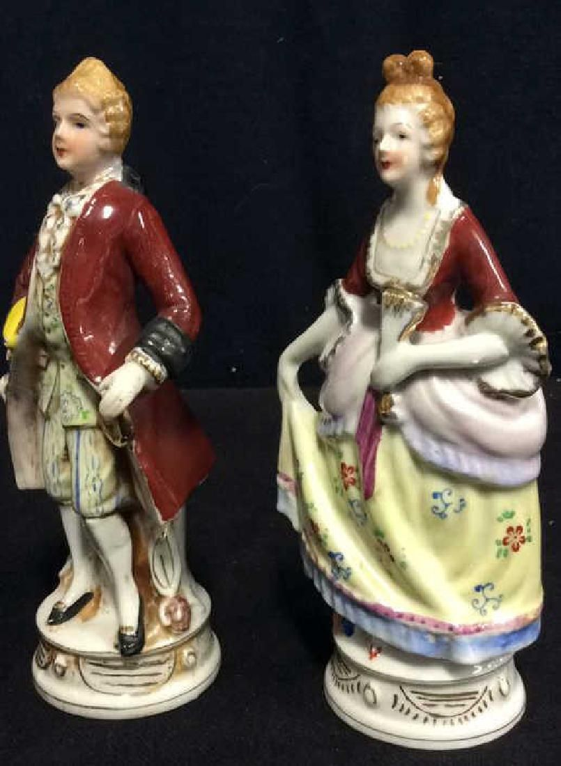 Lot 2 Painted Porcelain Male and Female Figures